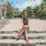Small park in Playa del Carmen. Pretty flags everywhere.
