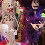 Dia de los muertos shops lined the streets in Playa Del Carmen, Mexico.