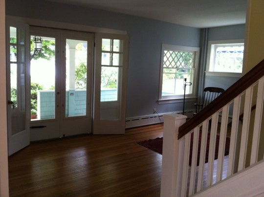 Entryway and front living room.