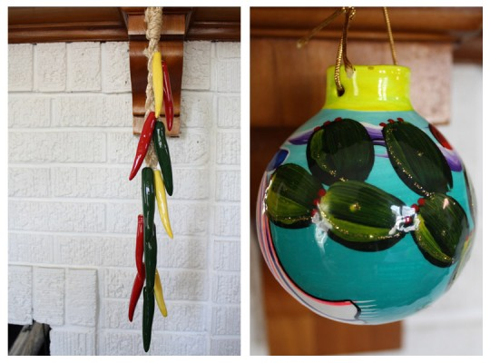 Chili pepper decor, and a new ornament for the christmas tree.