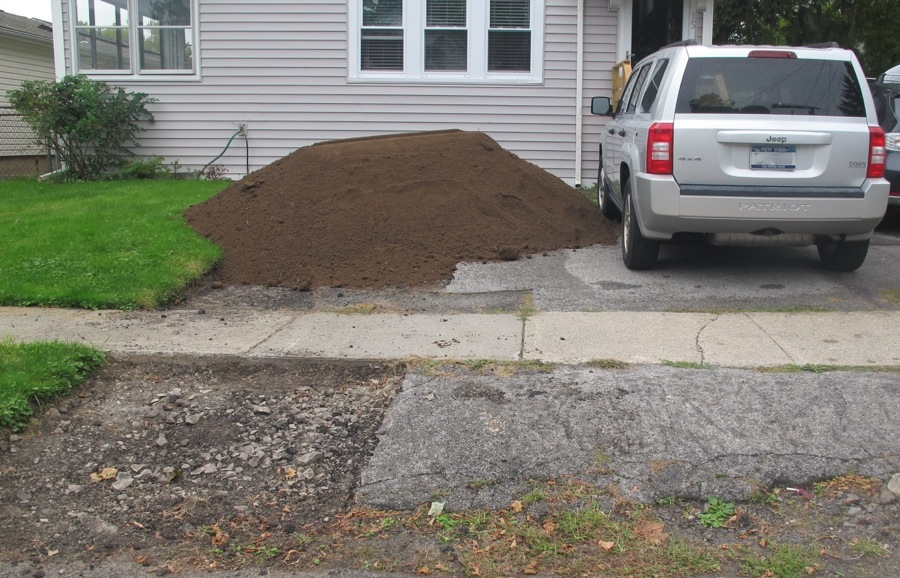 Yard of topsoil bing images for Topsoil delivery