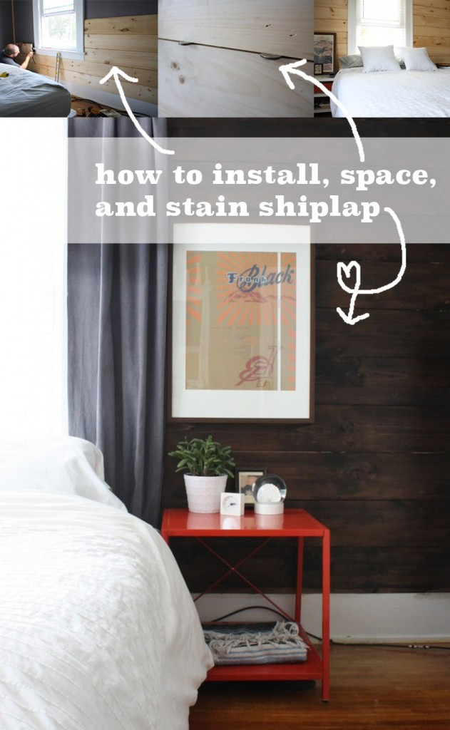 How to install shiplap boards.