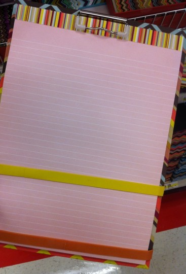 If all of my lined paper was pink... I could deal with that.