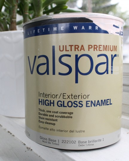 Ultra special, ultra premium enamel by my new BFF, Valspar.