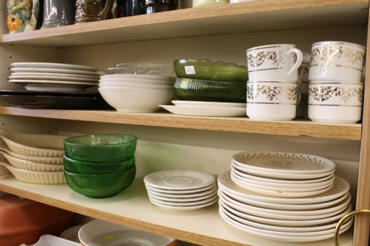 Just a few shelves of housewares (there are dozens spanning one wall of the shop).