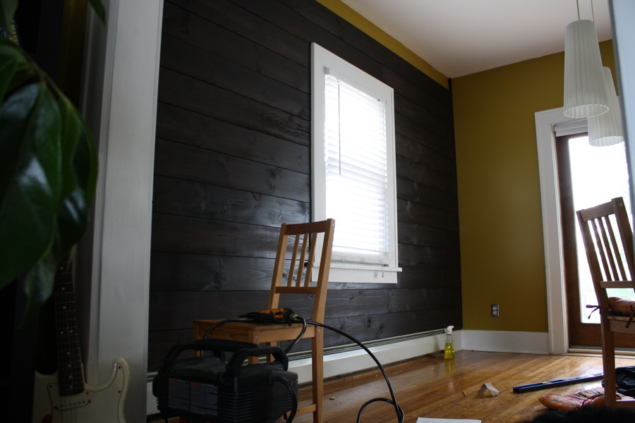 Installing Shiplap In Our Dining Room Merrypad