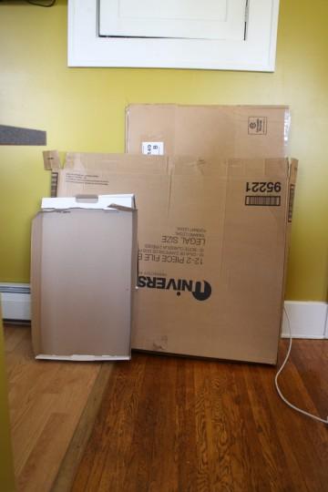 Cardboard. Lots of cardboard.