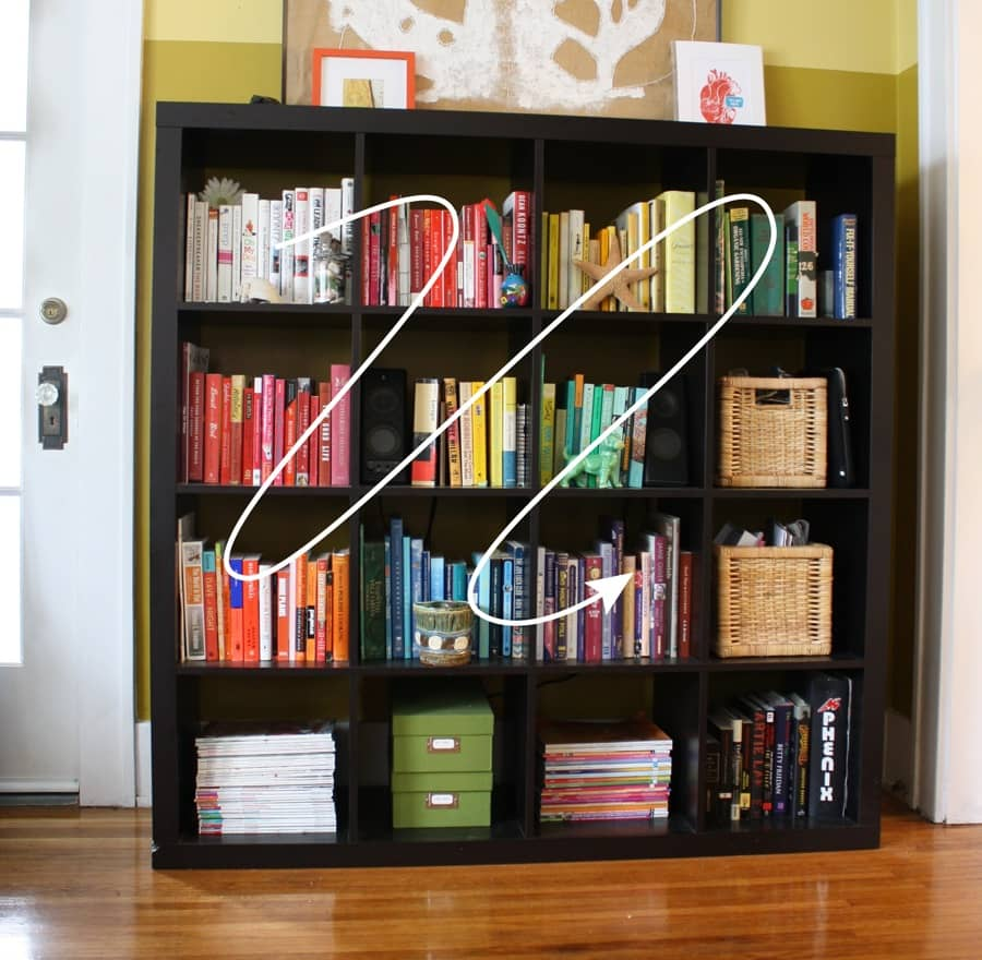 Rainbow Shelves And Book Cover Art Merrypad