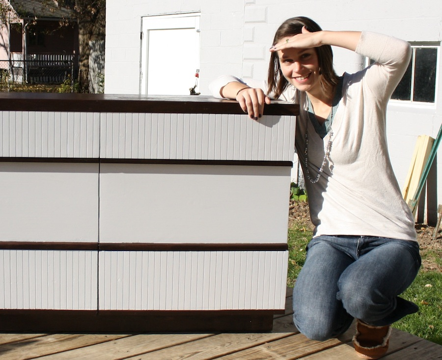 DIY Network: Me and my refinished dresser.