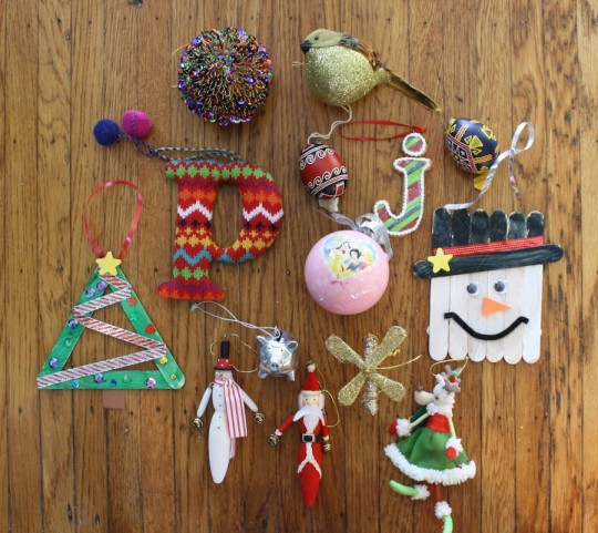 A collection of Pete's ornaments.