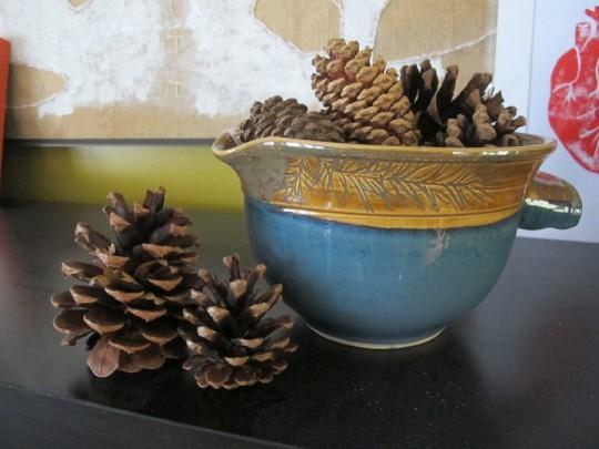 Clearance bin pine cones.
