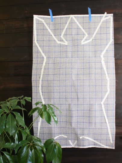 Bear Rug Template. Looking almost symmetrical, and very beary.