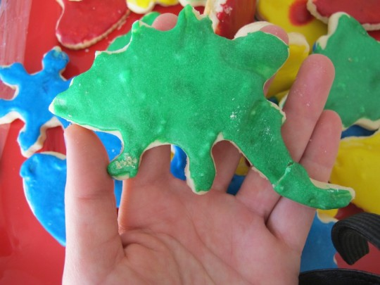 Stegosaurus cutout.