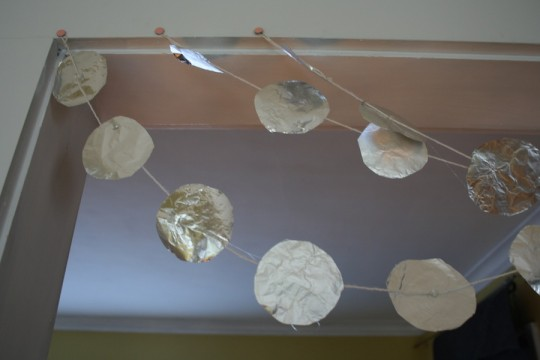 DIY Foil Garland. Happiness!