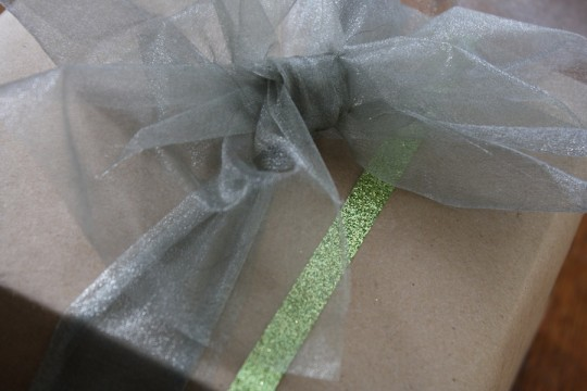 Sparkly green.