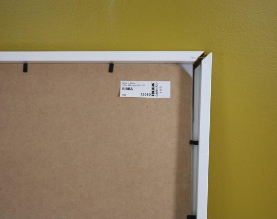Whomp, whomp. Broken IKEA frame.