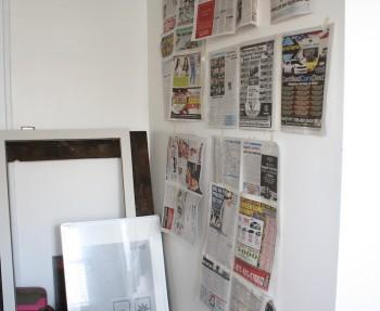 DIY frame gallery planning.