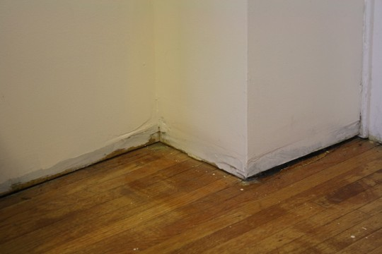 Office baseboard... MIA.