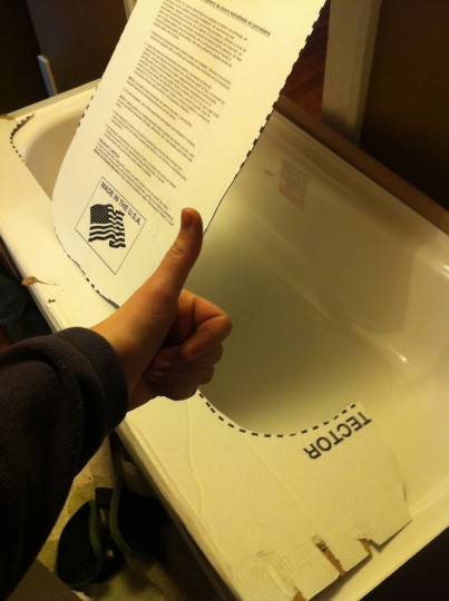 New tub, thumbs up.