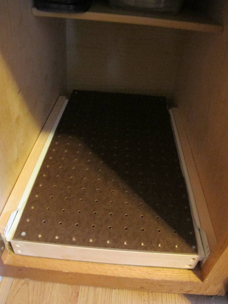 Pegboard Kitchen How Handy A Diy Sliding Kitchen Pegboard Drawer Merrypad