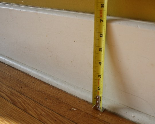 """Existing baseboard height, 7-1/8"""""""