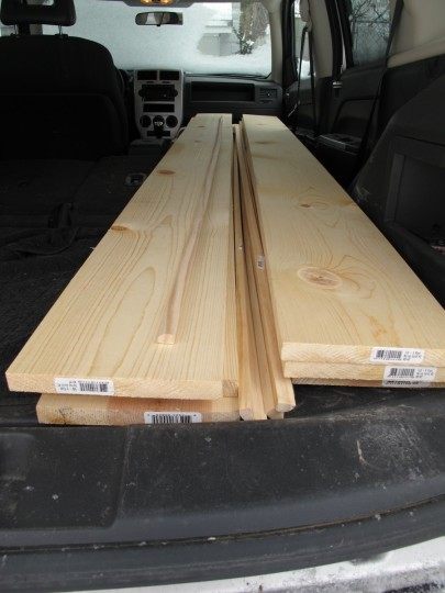 New 1x8x8 boards, future routed baseboard trim.