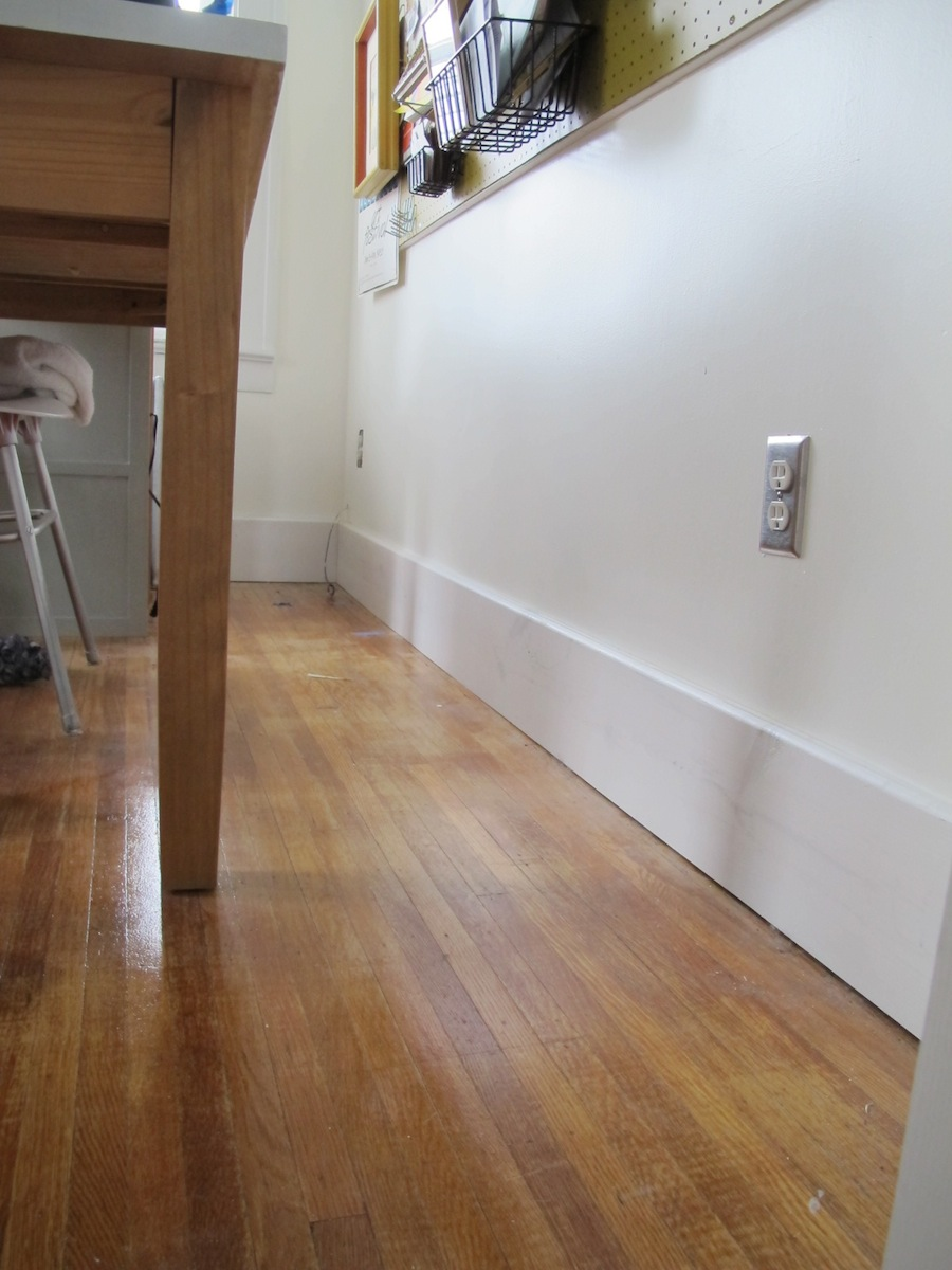 DIY Baseboard Trim Installation Merrypad - 6 inch floor trim