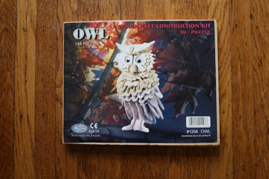 Baby's first 3D owl puzzle!