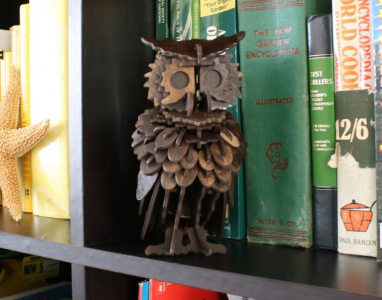 Happy finished 3D owl.