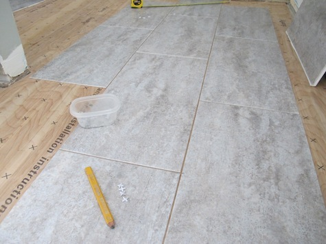 A fast DIY - how to install groutable vinyl adhesive tile.