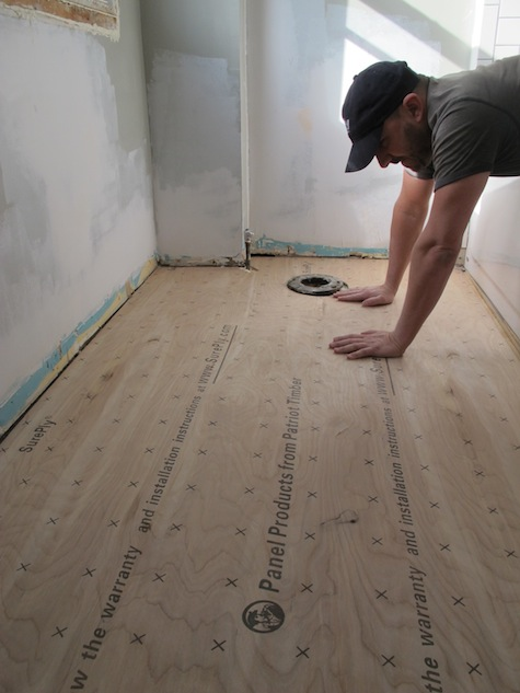 Successfully cut the subfloor to fit around the toilet flange.