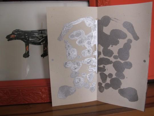 All silver inkblot.