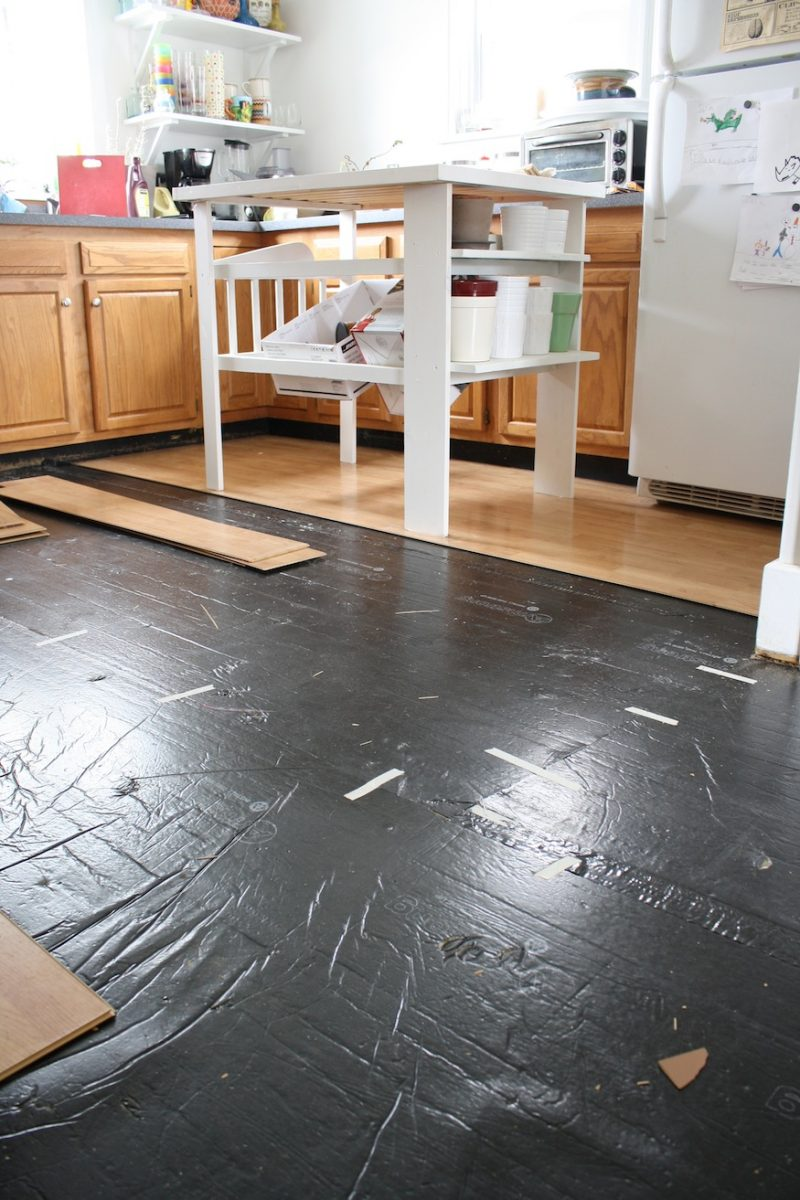 Removing pergo like laminate flooring merrypad for Kitchen flooring sale