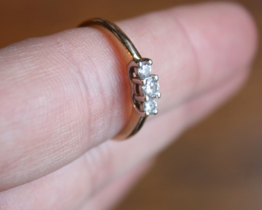 Diamond ring in the rough.