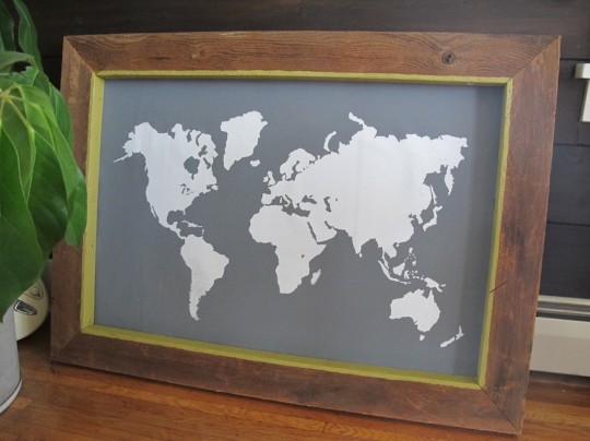 Framed map.