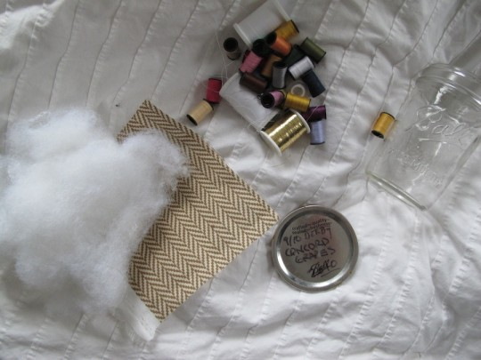 Building materials, sewing kit style.