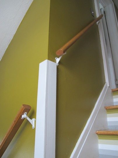 Installed stair rail. You're welcome.