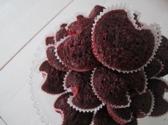 Heart cupcakes.