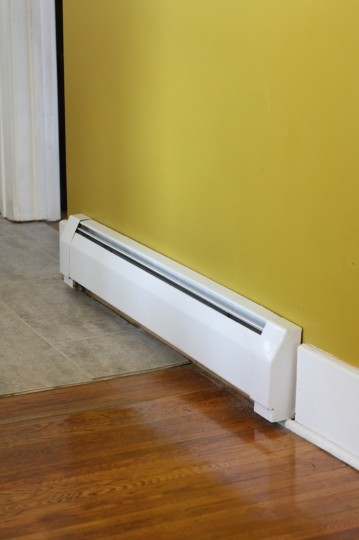 Finished baseboard heating.