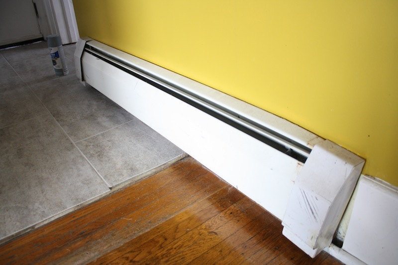 Diy baseboard heating update merrypad for Cost to paint baseboard