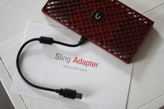 It's the little red sling adapter for our Dish Network!