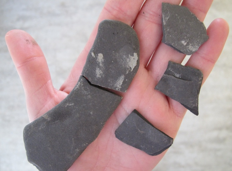 Shale can be broken by hand, yo.