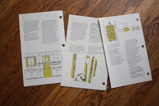 Selected pages from The 1970's edition of The Complete Family Home Repair Book.