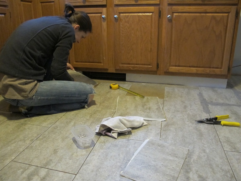 Swell Tips For Installing A Kitchen Vinyl Tile Floor Merrypad Download Free Architecture Designs Jebrpmadebymaigaardcom