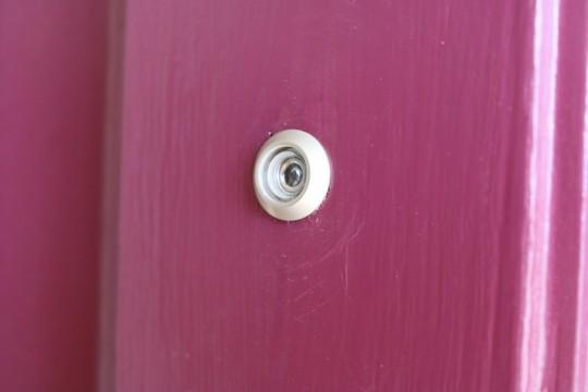 Peephole installed.