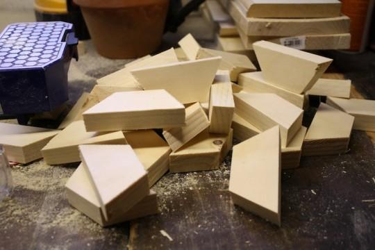 Hexagon edges piling up.