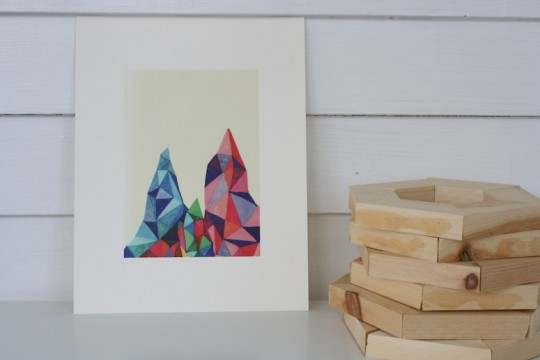 Mountain print by Jaime Derringer, fab.com