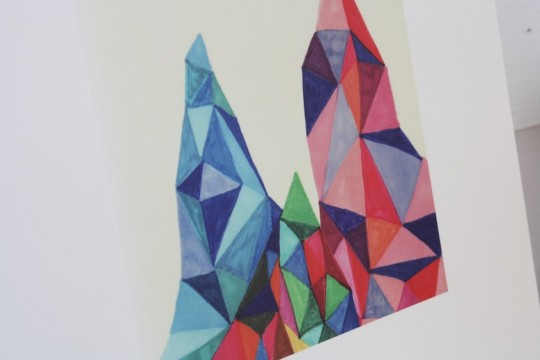 Mountain print by Jaime Derringer, fab.com
