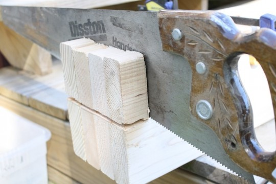 Set the circular saw blade to only cut to a certain depth, and then cut the rest of the way by hand or by using a sawzall.