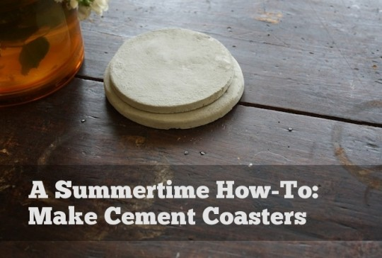 How to make portland cement coasters.